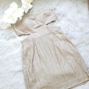 Black Halo Beige Gold Mini Dress Sz 4